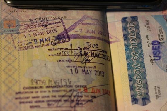 штамп продление в паттайе туристической тайской визы