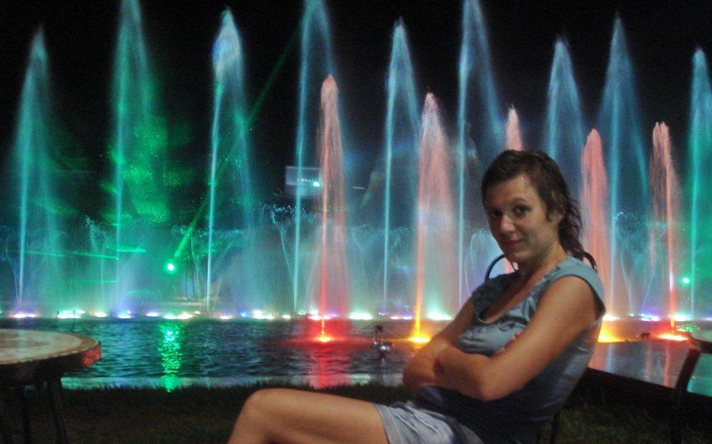 Цветные фонтаны