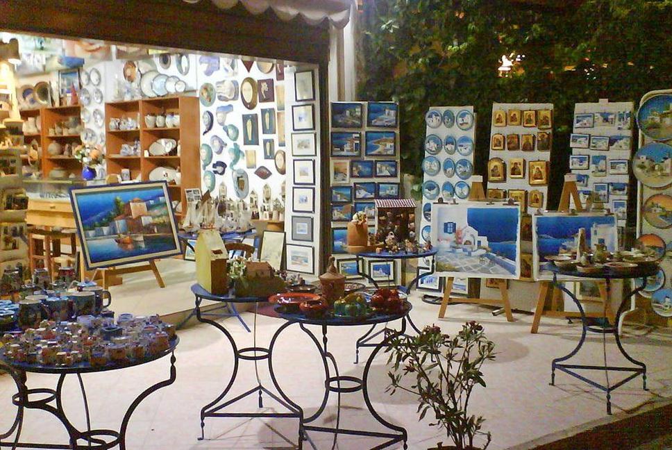Магазин сувениров, Крит