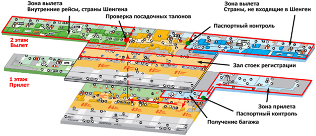 План-схема аэропорта Афин на русском языке