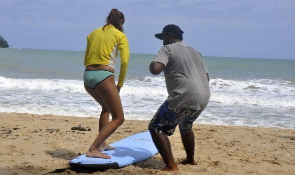 Обучение серфингу на Пхукете