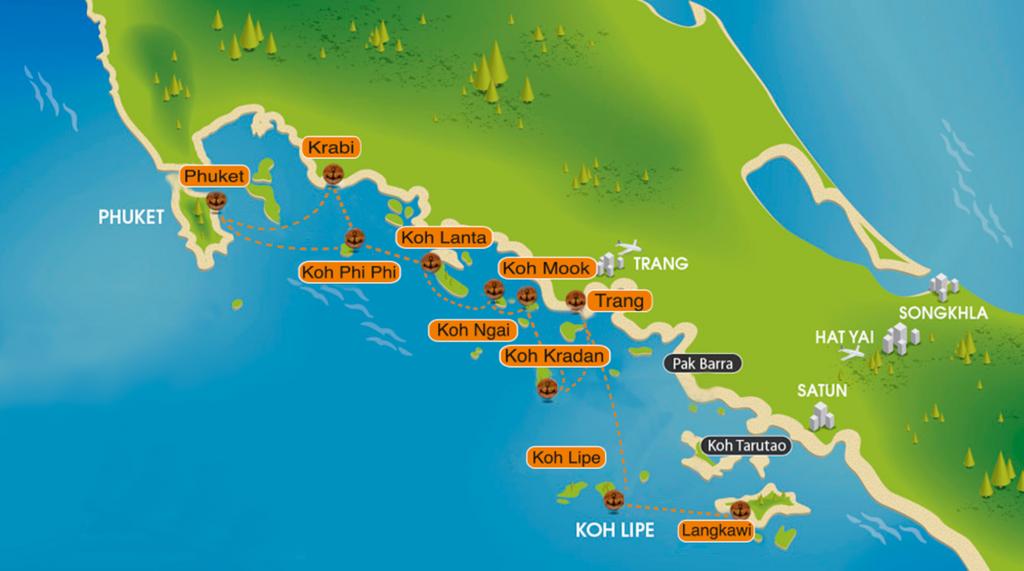 Паромы с Пхукета на острова