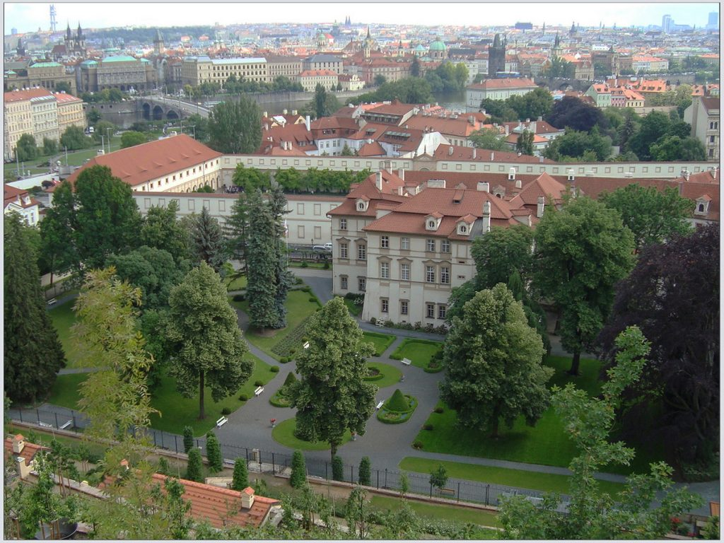 Дворцовые сады под Пражским Градом Рис.2