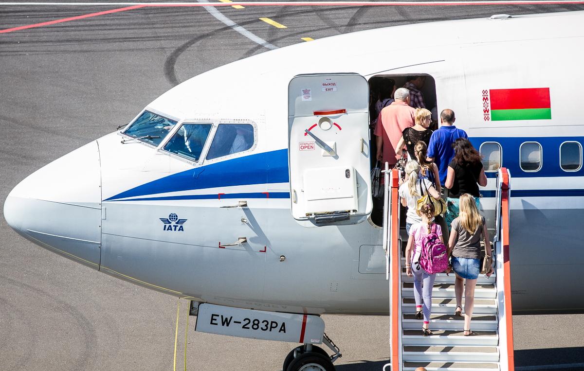 Посадка в самолет