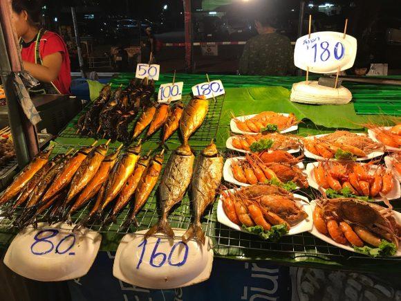 цены на рыбу и креветки в Таиланде