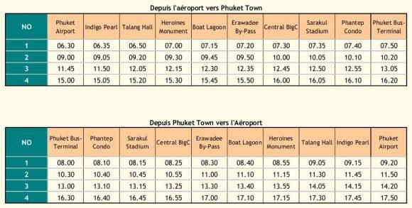 расписание автобуса в аэропорт Пхукета