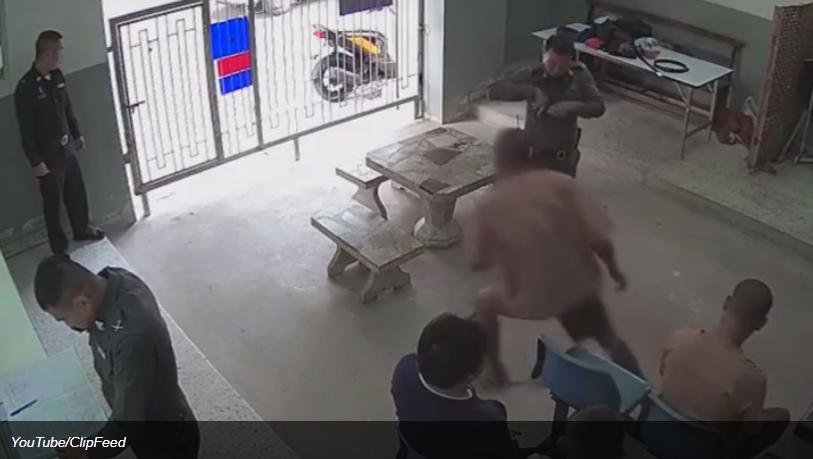 Побег из тюрьмы в Таиланде попал на видео
