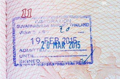 штамп по прибытию Таиланд