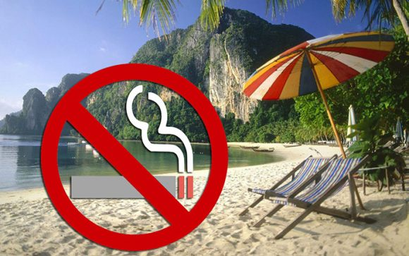 запрещено курить на пляжах Таиланда