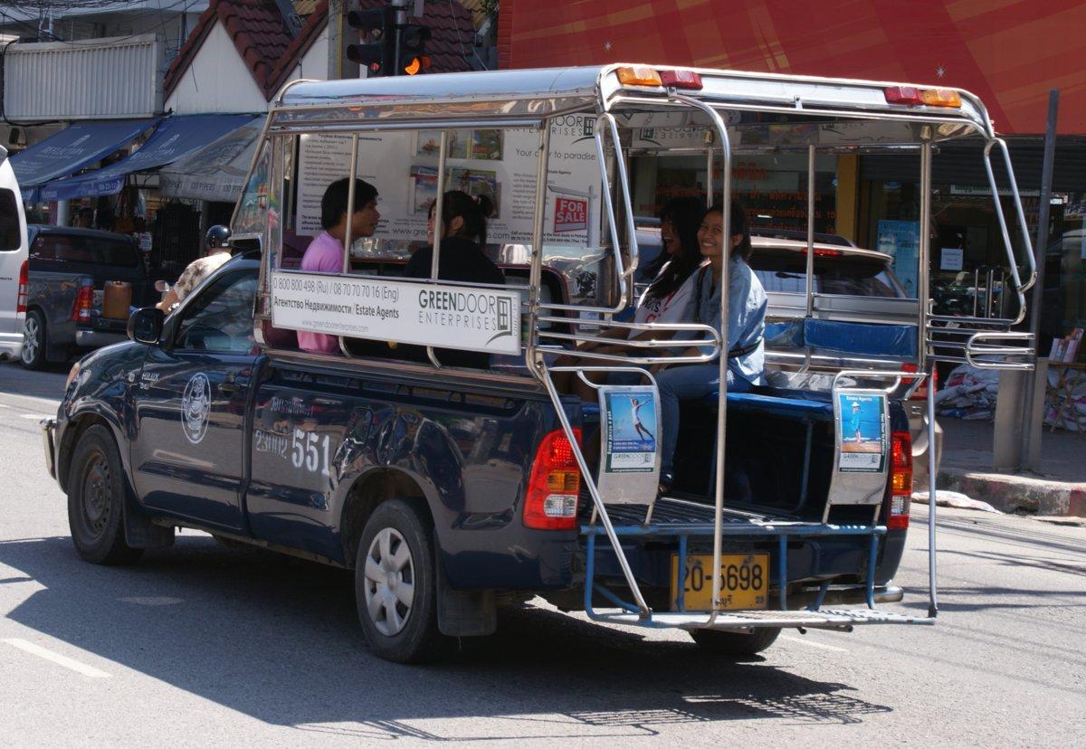 Сонгтео(тук тук) в Паттайе – расписание,  новые маршруты и цена