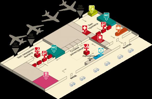схема аэропорта У-тапао